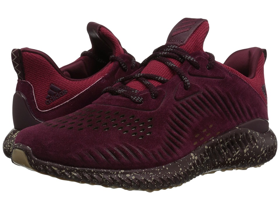 adidas Running - Alphabounce Sushi Suede (Maroon/Trace Khaki/White) Mens Running Shoes