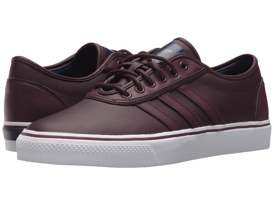 Image of adidas Skateboarding - Adi-Ease (Dark Burgundy/Footwear White/Mystery Ink Synthetic) Skate Shoes