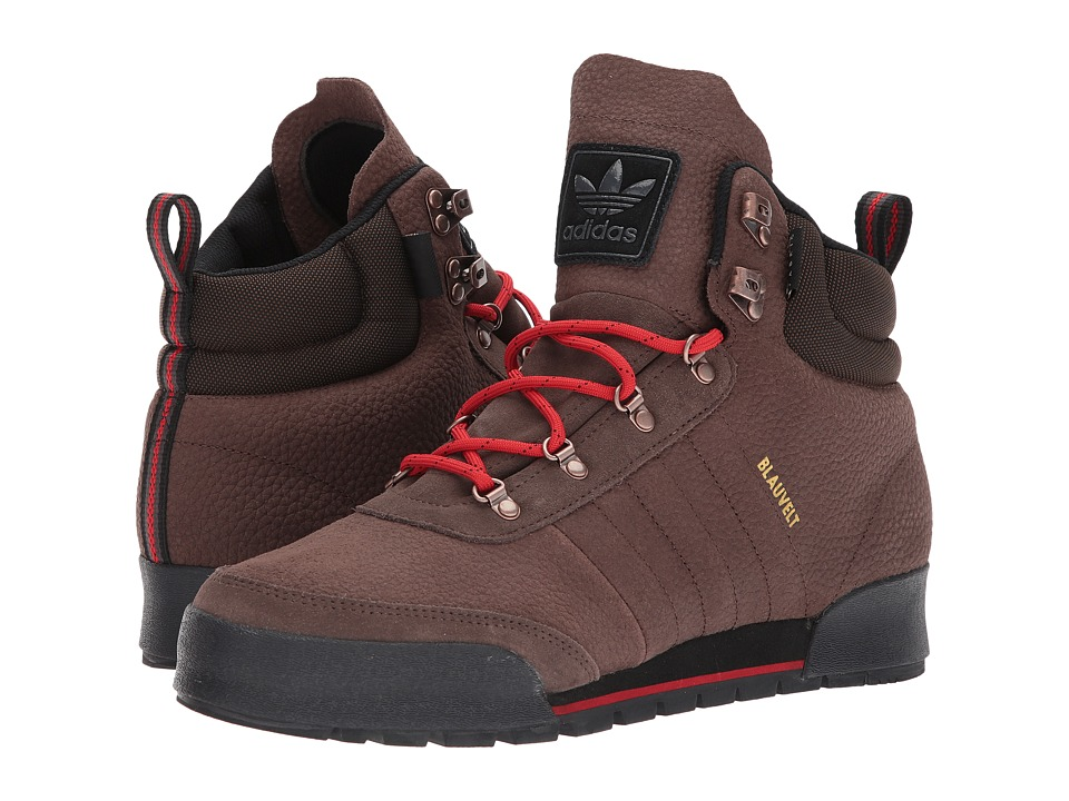 adidas Skateboarding - Jake Boot 2.0 (Brown/Scarlet/Core Black Leather) Mens Lace-up Boots