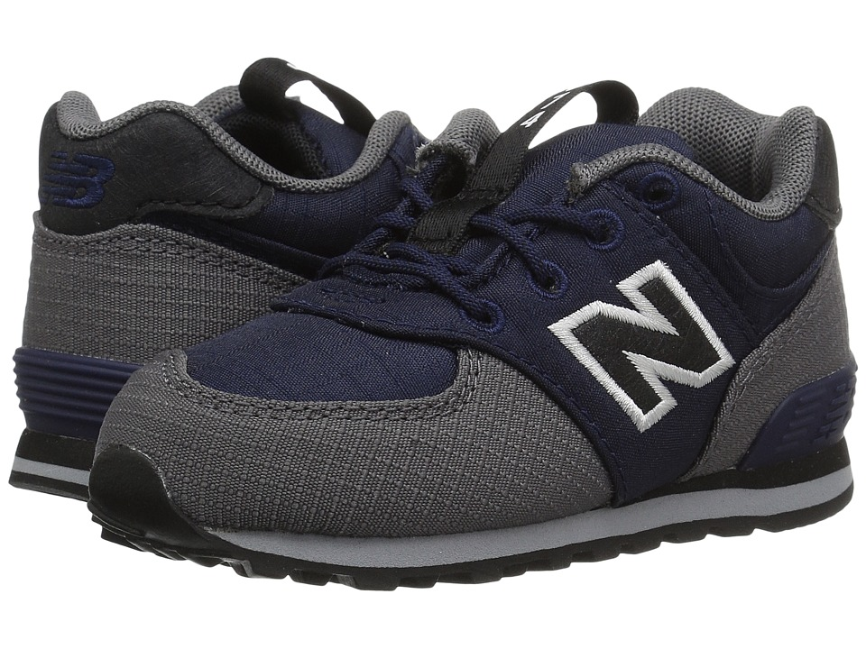 New Balance Kids KL574v1I (Infant/Toddler) (Navy/Gray) Boys Shoes