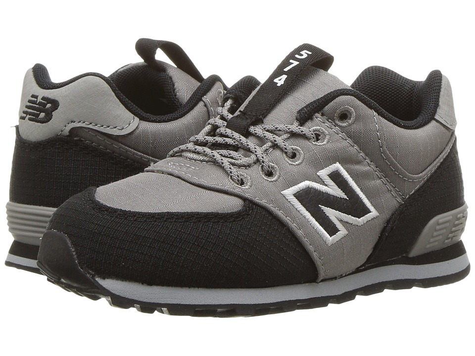 New Balance Kids KL574v1I (Infant/Toddler) (Grey/Black) Boys Shoes