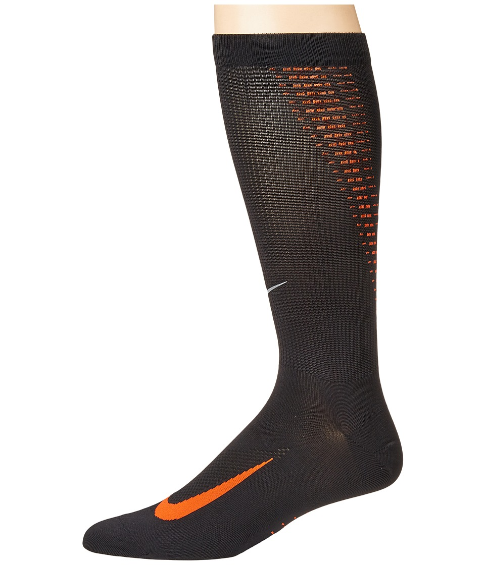 Nike Elite Run Lightweight 2.0 Crew (Black/Team Orange) C...