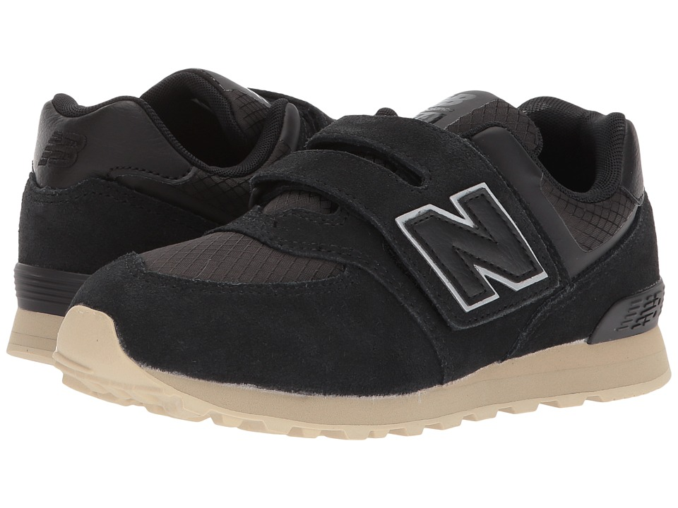 New Balance Kids KV574v1Y (Little Kid/Big Kid) (Black/Tan) Boys Shoes