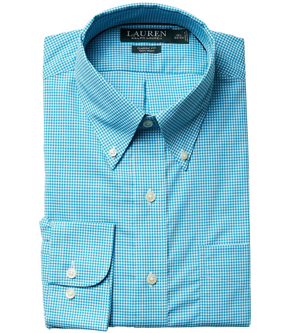 Ralph Lauren Classic Fit Non Iron Gingham Plaid Button Do...