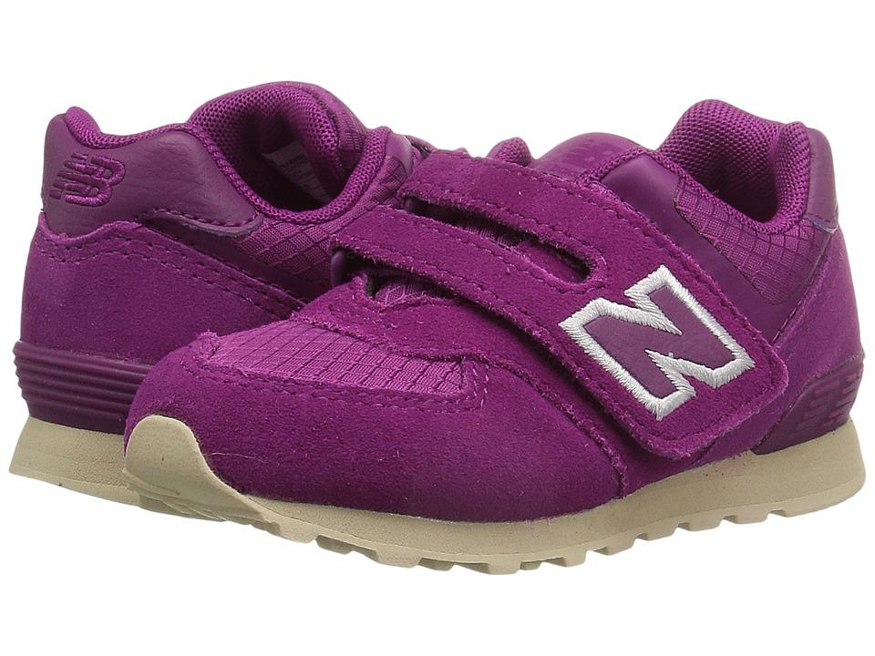 New Balance Kids KV574v1I (Infant/Toddler) (Purple/Tan) Girls Shoes