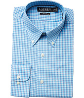 LAUREN Ralph Lauren - Slim Fit Non Iron Broadcloth Plaid Button Down Collar Dress Shirt