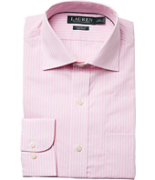 LAUREN Ralph Lauren - Classic Fit Non Iron Poplin Stripe Spread Collar Dress Shirt