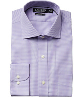 LAUREN Ralph Lauren - Slim Fit Non Iron Pinpoint Stretch Plaid Spread Collar Dress Shirt