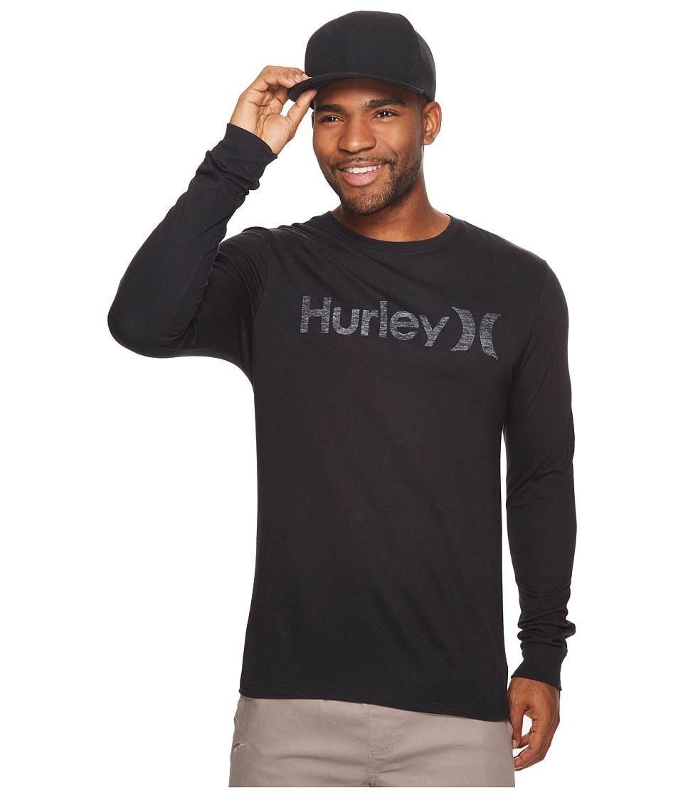 Hurley One Only Push Through Long Sleeve Tee (Black W) Men