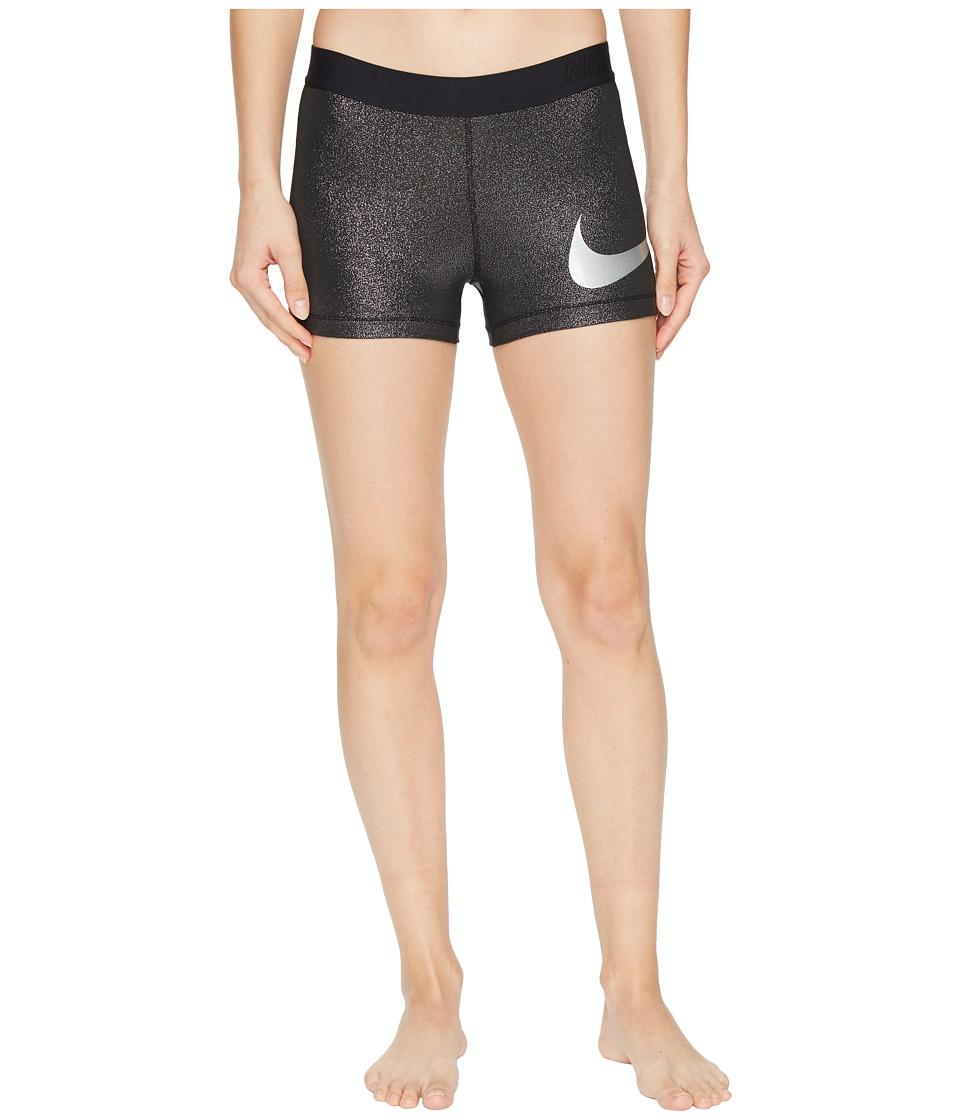 Nike Pro Cool 3 Training Short (Black/Metallic Silver/Metallic Silver) Women