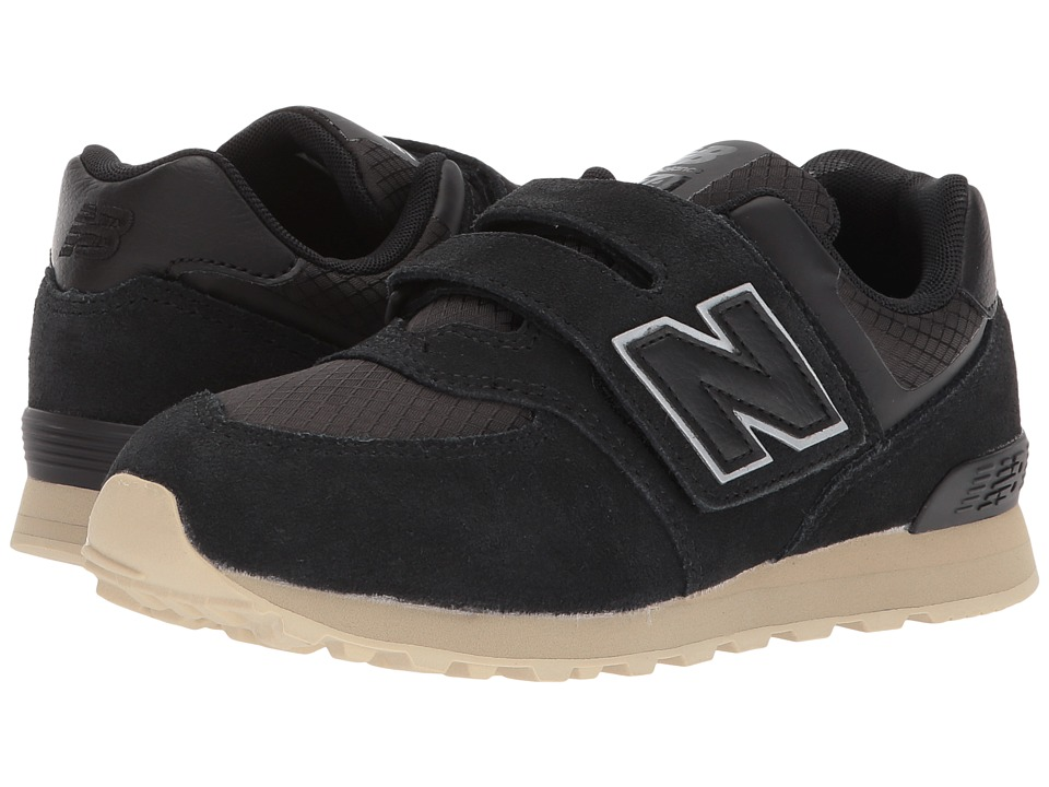 New Balance Kids KV574v1I (Infant/Toddler) (Black/Tan) Boys Shoes