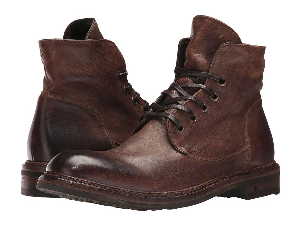 John Varvatos Ellis Lace Boot (Dark Brown) Men