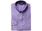 LAUREN Ralph Lauren Slim Fit Non Iron Poplin Mini Paisley Print Spread Collar Dress Shirt