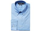 LAUREN Ralph Lauren Slim Fit Non Iron Poplin Dot Print Spread Collar Dress Shirt