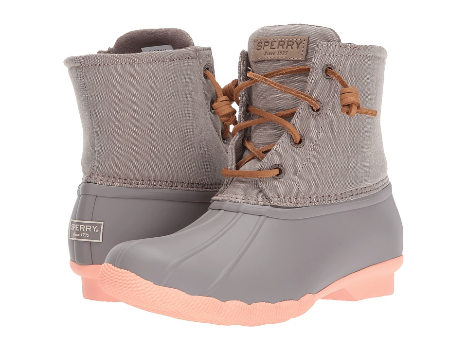 Sperry Salterwater Pop Outsole (Taupe/Coral) Women