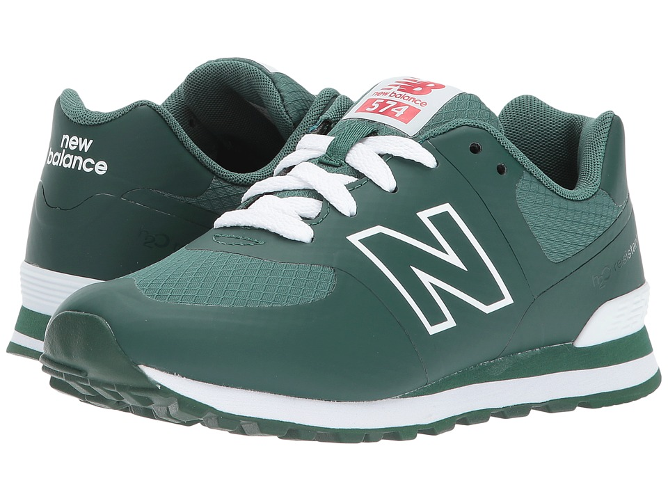 New Balance Kids KL574V1P (Little Kid) (Hunter Green/White) Kids Shoes