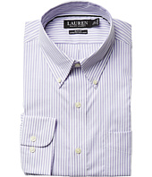 LAUREN Ralph Lauren - Slim Fit Non Iron Pinpoint Stretch Stripe Button Down Collar Dress Shirt