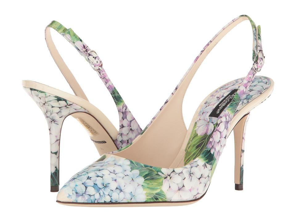 Dolce & Gabbana CG0181 (Cream Print) High Heels