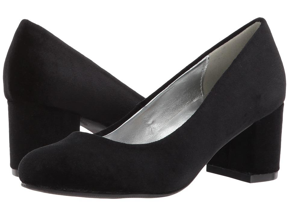 Image of Amiana - 15-A5500 (Little Kid/Big Kid/Adult) (Black Velvet) Girl's Shoes
