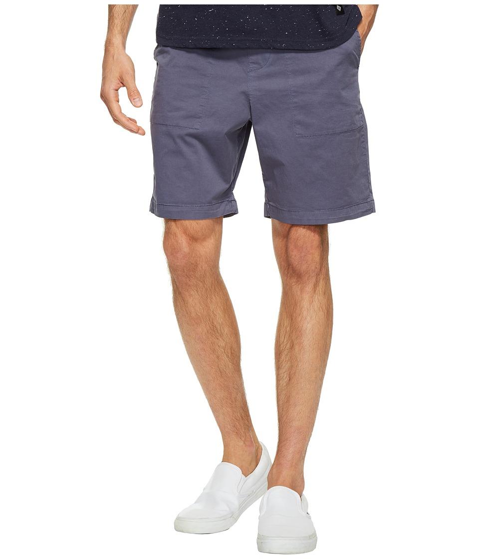 Original Penguin Stretch Cotton Garment Dye Shorts (Vintage Indigo) Men
