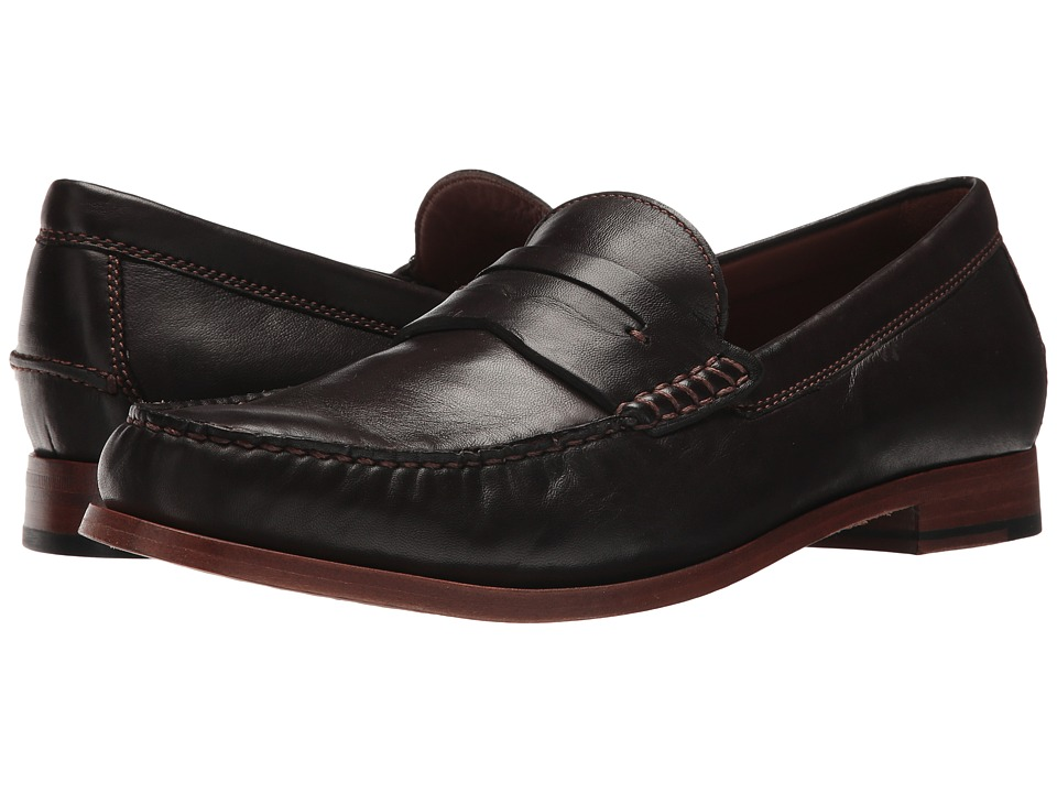 1960s Style Men's Clothing, 70s Men's Fashion Trask - Sadler Dark Brown Mens Slip on  Shoes $195.00 AT vintagedancer.com