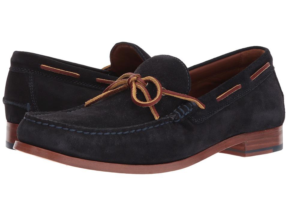 60s Mens Shoes | 70s Mens shoes – Platforms, Boots Trask - Sullivan Navy Suede Mens Shoes $195.00 AT vintagedancer.com