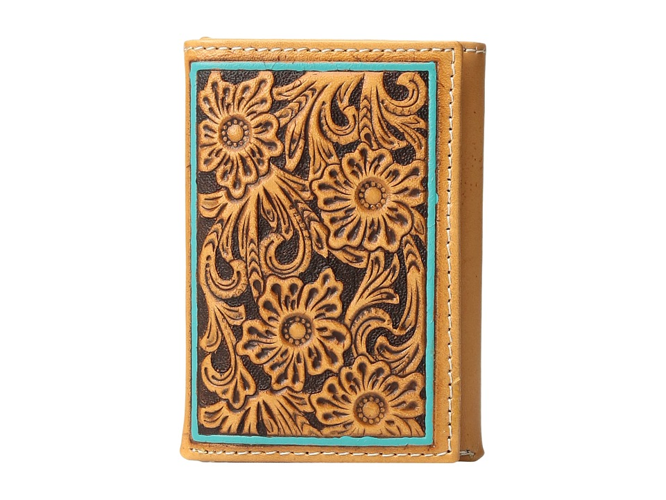 Ariat - Trifold Turquoise Edge Wallet