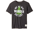 The Original Retro Brand Kids - Not All Who Wander Are Lost Short Sleeve Heathered Tee (Big Kids)