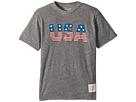 The Original Retro Brand Kids - Stars and Stripes Tri-Blend Short Sleeve USA Tee (Big Kids)