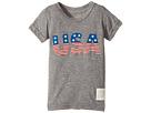 The Original Retro Brand Kids - Stars and Stripes Tri-Blend Short Sleeve USA Tee (Toddler)