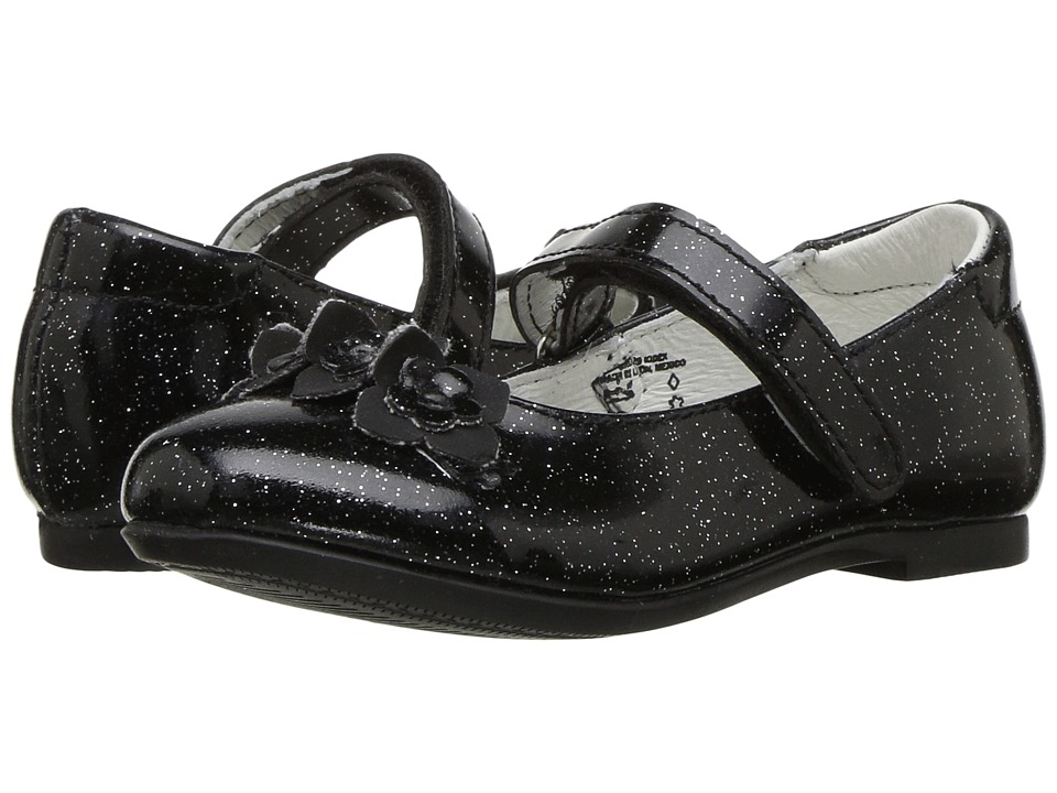 Kid Express Rose (Toddler/Little Kid) (Black Glitter Patent) Girl's Shoes