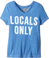 The Original Retro Brand Kids - Locals Only Short Sleeve Tri-Blend V-Neck Tee (Big Kids)