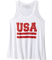The Original Retro Brand Kids - Slub USA Racerback Tank Top (Big Kids)