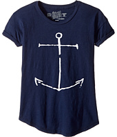 The Original Retro Brand Kids - Slub Crew Neck Anchor Tee (Big Kids)