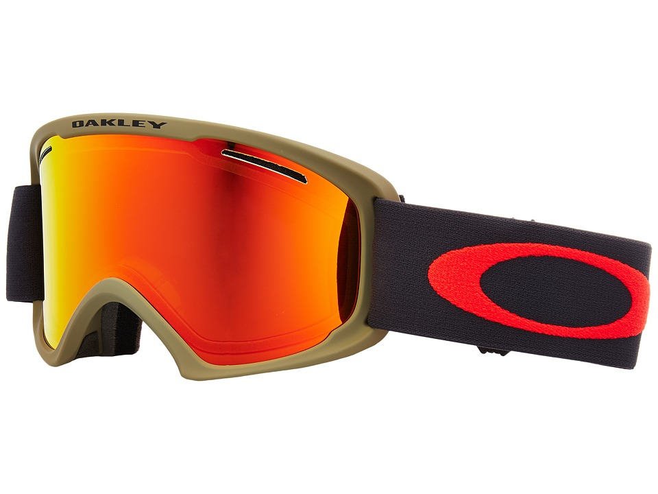 Oakley O Frame 2.0 XL (Canteen Iron w/ Fire Iridium) Goggles