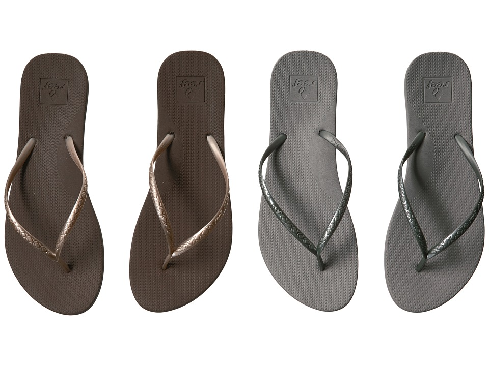 Reef Escape Lux 2-Pair Variety Pack (Night Out (Coffee & Pewter)) Women
