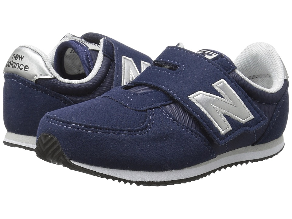 New Balance Kids KV220v1I (Infant/Toddler) (Navy/Silver) Boys Shoes