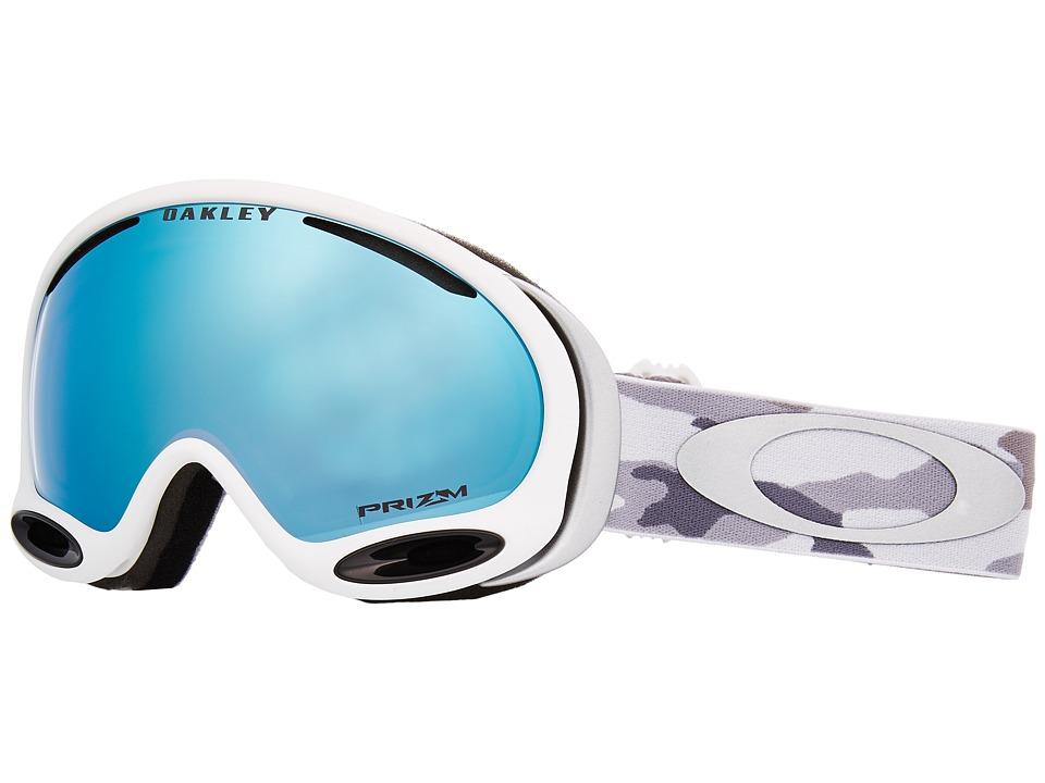 Oakley - A-Frame 2.0 (Snow Camo w/ Prizm Sapphire Iridium) Goggles