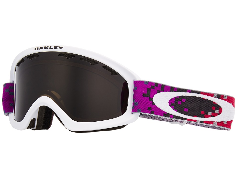 Oakley O2 XS Small (Pixel Fade Iron Rose w/ Dark Grey) Goggles