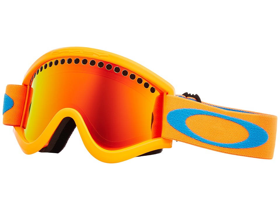 Oakley E-Frame (Neon Orange w/ Fire Iridium) Goggles