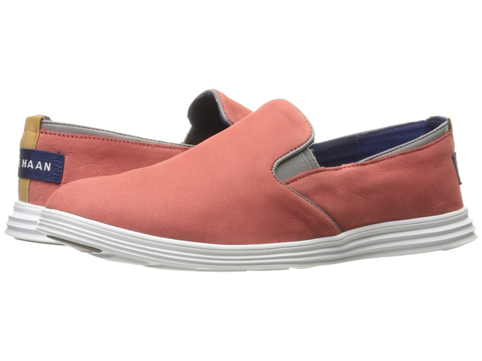 Cole Haan Ella Grand 2 Gore Slip-On (New Mineral Red Nubuck/Ironstone/Optic White) Women