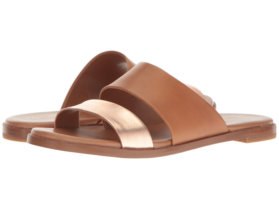 Cole Haan - Anica Sandal (Acorn/Rose Gold Metallic) Women's Dress Sandals