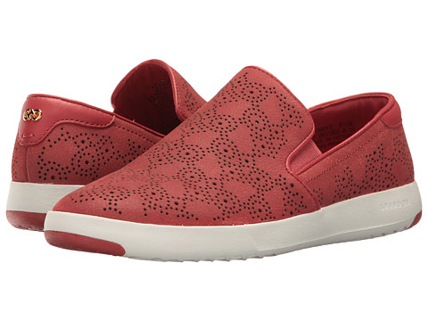Cole Haan GrandPro Paisley Perf Slip-On - New Mineral Red Nubuck