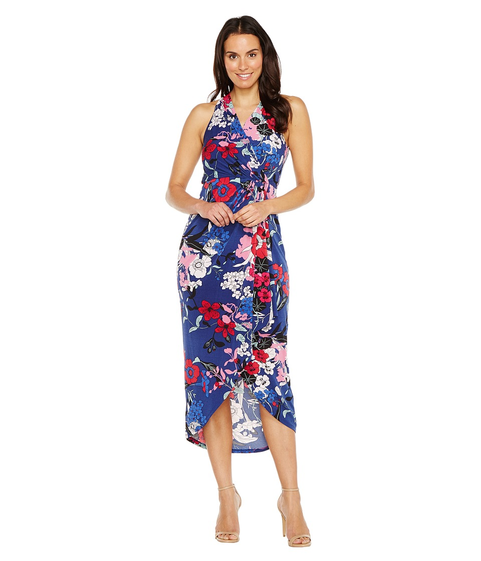 Adrianna Papell - Halter neck High Low Wrap Dress