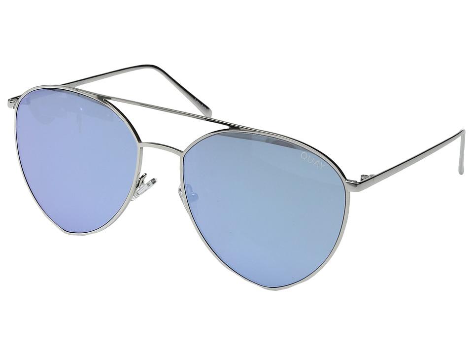 QUAY AUSTRALIA - Indio (Silver/Blue) Fashion Sunglasses