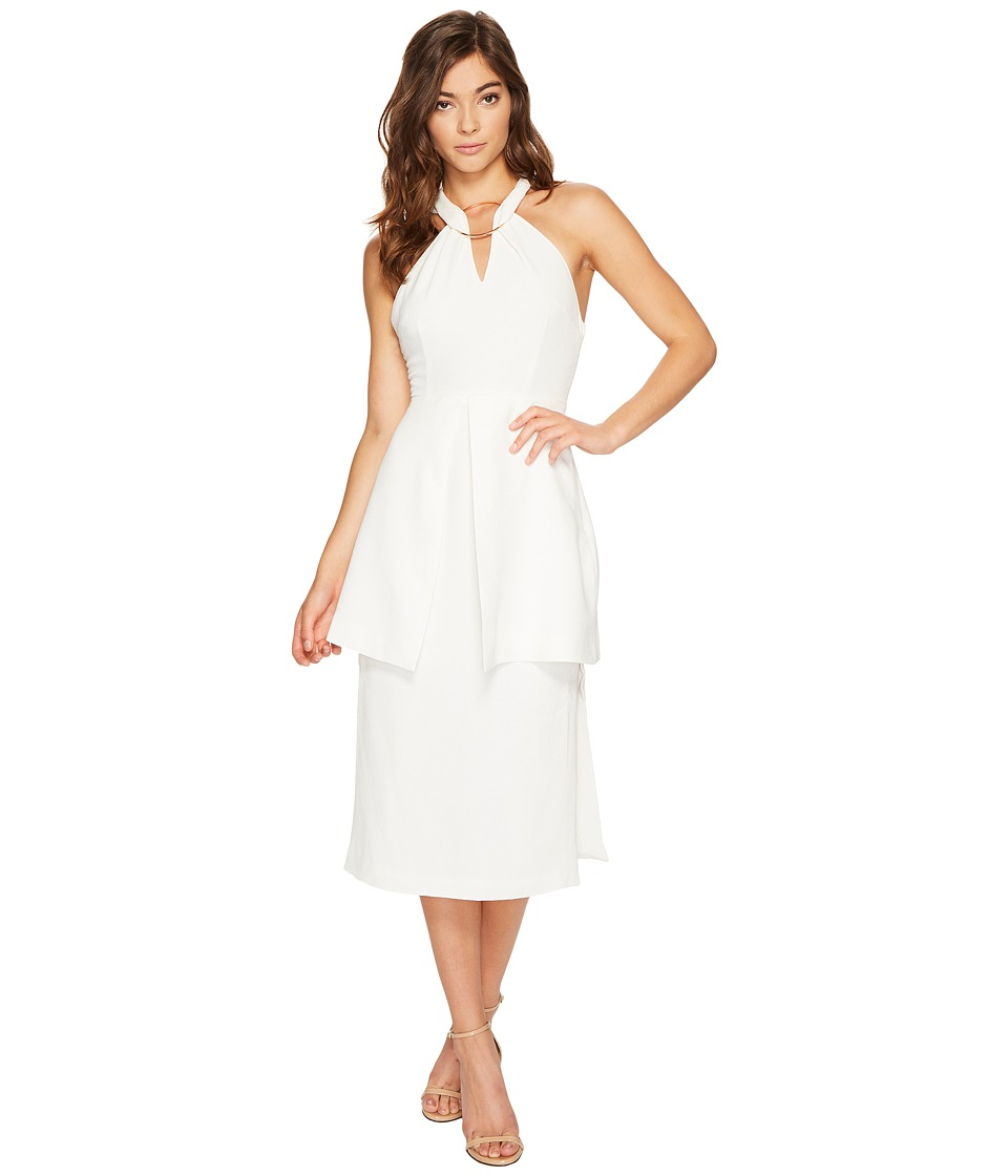 KEEPSAKE THE LABEL Darkest Light Midi Dress (Ivory) Women