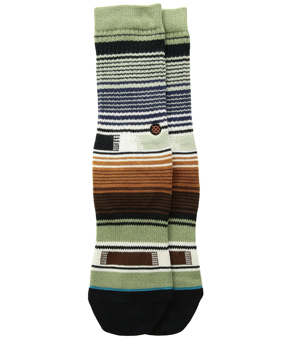 Stance - Hatchets (Little Kid/Big Kid) (Green) Men's Crew Cut Socks Shoes