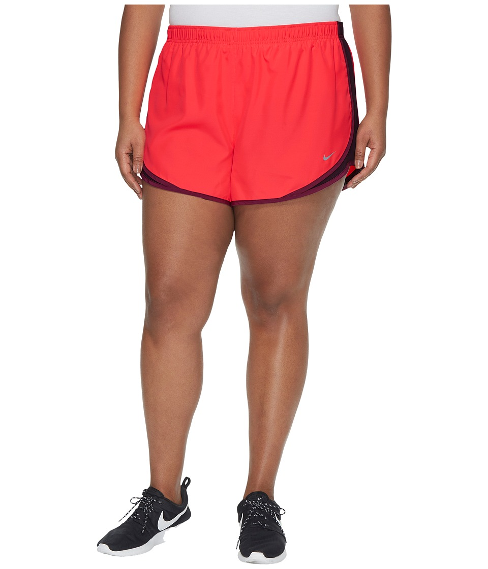 Nike Dry Tempo 3 Running Short (Size 1X-3X) (Racer Pink/Port Wine/Tea Berry/Wolf Grey) Women
