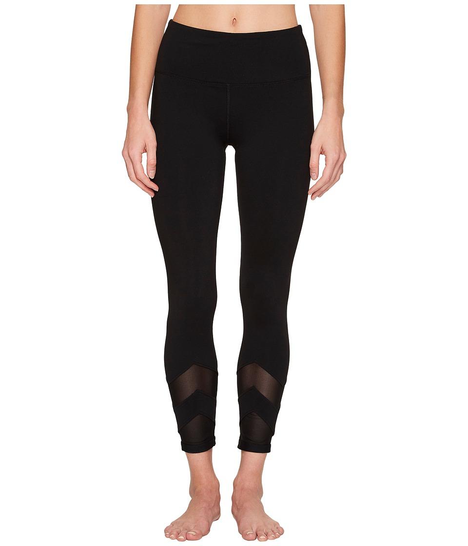Lorna Jane - Zigzag Core Ankle Biter (Black) Women's Casual Pants