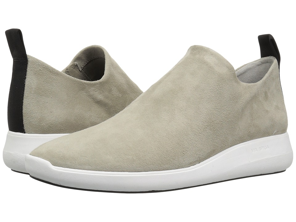 Via Spiga Marlow (Cement Stretch Kid Suede) Slip-On Shoes